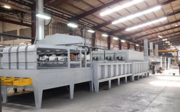 The Fritz continuous wire annealing furnace
