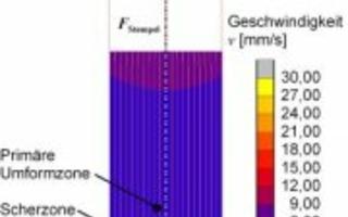 Numerische Untersuchungen zur Ausbildung der Scherzone beim Strangpressen von Aluminium