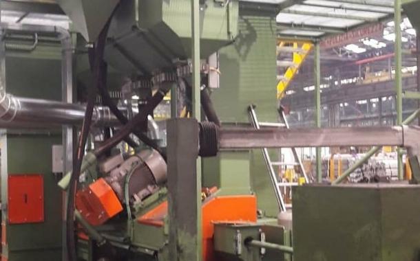 Shot blasting machine installed by Marcegaglia