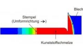 Simulation eines wirkmedienbasierten Blechumformprozesses