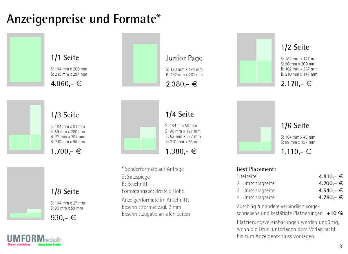 Anzeigenpreise Print UM
